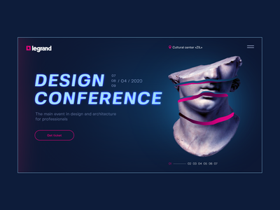 Design Conference conference color blue horizontal webdesign website design ui concept