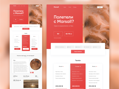 Сервис по продаже билетов на марс l Mars Ticket Service ui planet elon musk web design desktop space red service mars design website concept