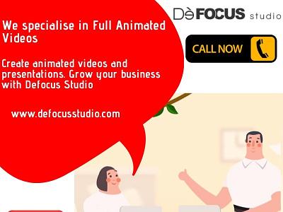 Full Animated Videos in Bangalore - Defocus typography ux illustration logo design defocus 3d branding vector 3d animation