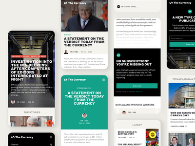 The Currency News App product-design branding ui ux typography clean ui mobile ui news mobile app