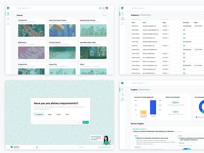 Event Management web app product-design survey events ux ui clean dashboard web app