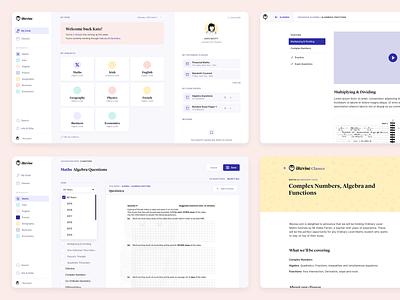 iRevise - eLearning Web App clean ui dashboard clean ux product-design ui web-app app