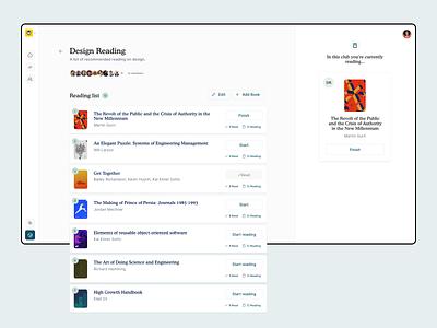 BookSync Web App web-app product-design dashboard ux app ui