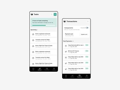 TokyoMate - Virtual Assistant App mobile app design product-design clean ui ux app mobile app mobile