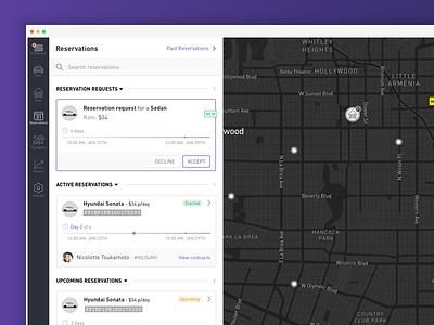 Car Fleet Management System map car app dashboard color clean web ux ui