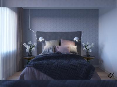 Flat 2. Bedroom render