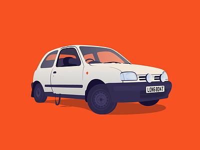 The Longboat micra nissan car illustration