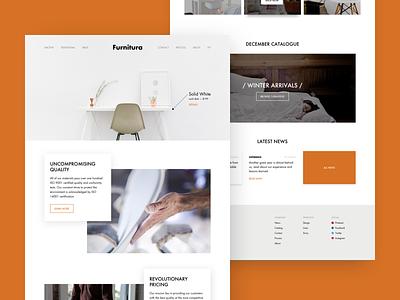 Furniture maker - Homepage homepage furniture ux design ui web