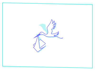 Special delivery bird package delivery stork illustration