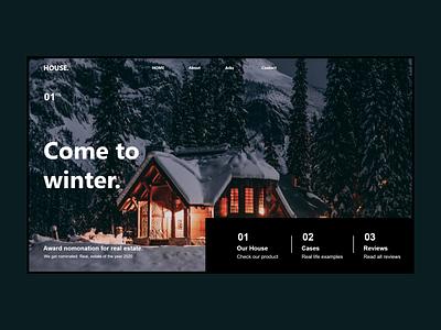 winter landing page nike design
