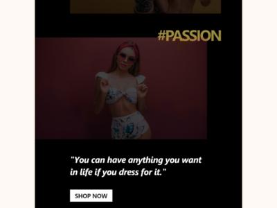 Fashionable landing page