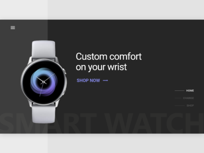 Smart Watch landing page