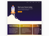 Academy landing page