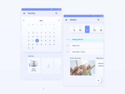 Planner with UI Elements
