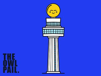 Changi Airport Yower ipad procreate cartoon illustration icon happy cute tower airport singapore