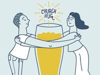 Church Hug Beer