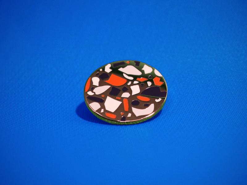 Terrazzo Enamel Pin product illustrator enamel pin enamelpin design vector illustration digital illustration