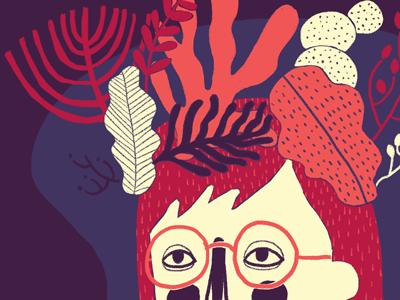 Hello, autumn! autumn outono girl plants portrait illustration ilustração colors