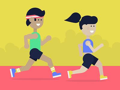 NYC Marathon donate run illustration flat marathon nyc