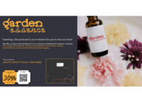 Garden Essence Postcard Design