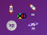 XD Space Logo Design