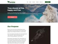K9 Rescue Website Redesign Concept