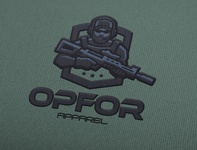OPFOR Apparel Concept Logo Design and Mockup