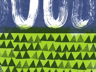 Landscape pattern experiment illustration
