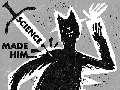 The Werewolf movie scifi horror fakeadsforrealmovies illustration