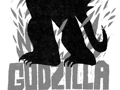 Godzilla scifi horror movie fakeadsforrealmovies illustration