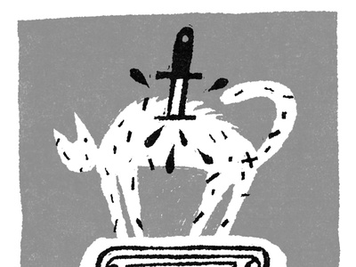 A Bucket of Blood horror movie fakeadsforrealmovies illustration