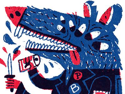 Blue Ribbon Rat rat beer pbr illustration