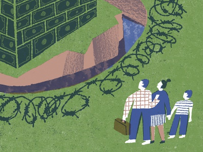 Arlington's Affordable Housing Crisis income inequality housing crisis editorial illustration illustration