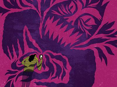 Social Media Harassment harassment teenagers social media editorial illustration illustration