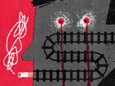 Killed mystery crime fiction crime illustration