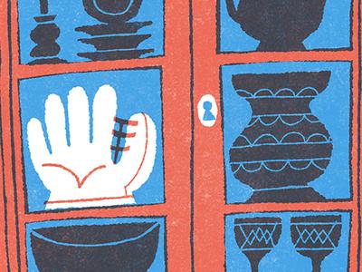 My Father's Glove dad baseball editorial illustration