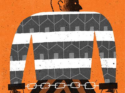 Home Is The Prisoner crime fiction book cover illustration