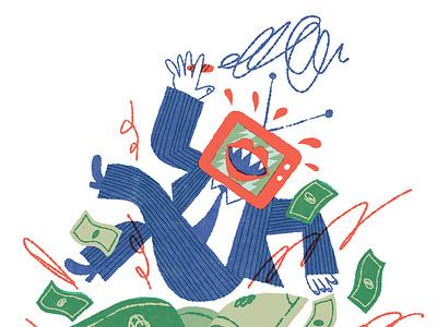 How Mass Media Became A Marketplace media editorial illustration illustration