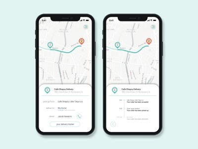 Café Delivery Location Tracker user interface design location location tracker navigation maps navigation interface tracker interface location interface location tracker interface mobile app design figma user interface app interface dailyuichallenge dailyui ux ui interface design design