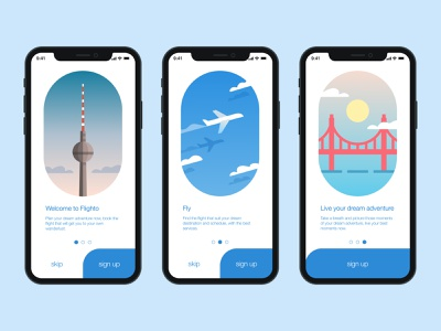 Onboarding Page of Flighto Apps flight booking app mobile apps design mobile apps sign up screen sign up ui sign up onboarding screen onboarding ui onboarding interfacedesign figma user interface app interface design dailyuichallenge dailyui ux ui interface design