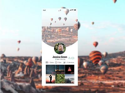 User Profile user interface user profile interface design interface adobexd uxdesign uidesign design ux ui dailyui006 006 dailyui dailyuichallenge app