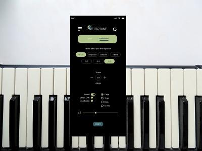 Metronome Settings interface design interfaces setting settings page settings ui settings metronome settings metronome adobexd app design ux ui dailyuichallenge dailyui007 007 dailyui