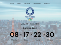 Tokyo Olympic 2020 Countdown Page!