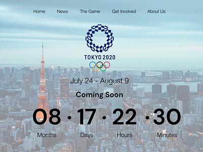 Tokyo Olympic 2020 Countdown Page! dailyui014 countdowntimer countdown timer countdown figma user interface interface ui ux interface design design dailyuichallenge dailyui