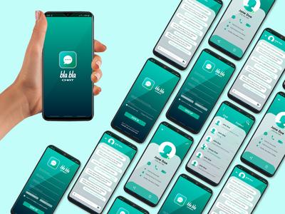 Social Media Chat App UI