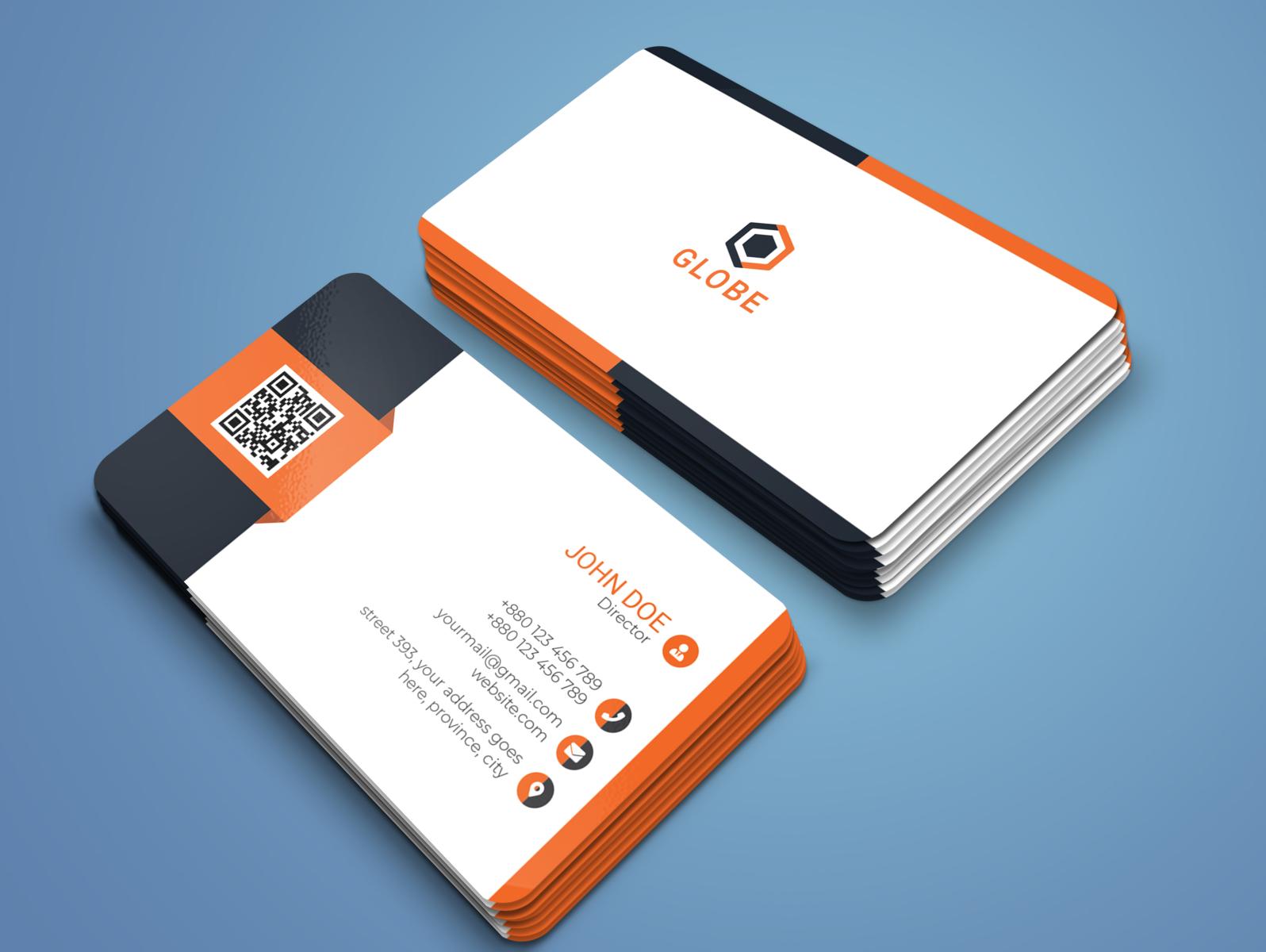 professional business card design 2020ramim on dribbble