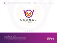 Orange Witch - Fashion Logo Design uidesign landingpage logo mark logo designer logodesign logo iconography branding brand identity brand design brand