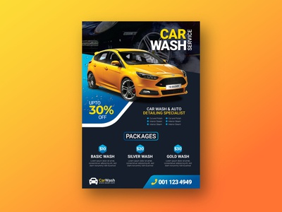 Car-Wash Flyer Design corporate flyer flyers business flyer washflyer carwash flyer design flyer