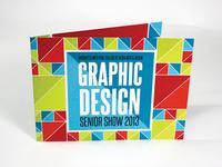 Drexel Graphic Design Senior Show Invitation