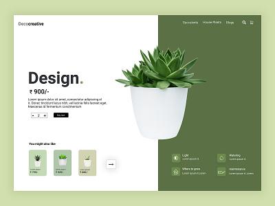 Plant Website Concept art branding typography website app ui ux minimal plantui uiux web design